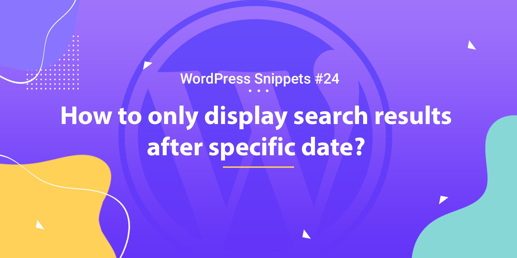 How to Only Display Search Results After Specific Date 1
